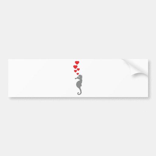hippocampe dans l'icône d'amour autocollants pour voiture