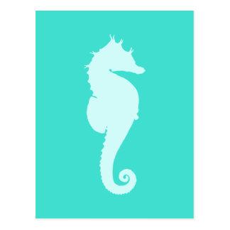 Hippocampe de turquoise carte postale