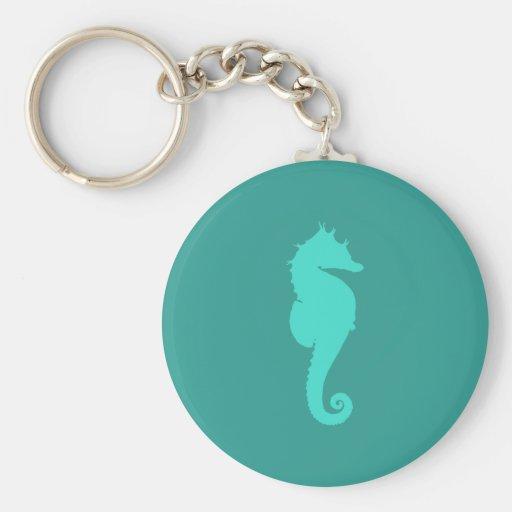 Hippocampe de turquoise porte-clé