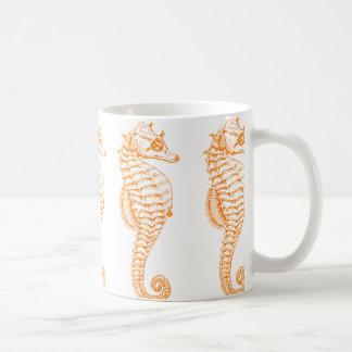 Hippocampe orange mug