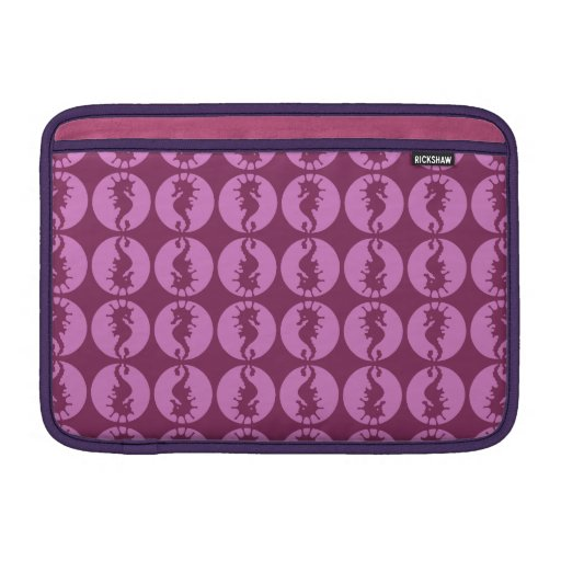 Hippocampes roses poches pour macbook air