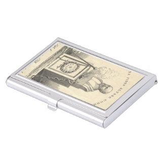 Hippocrate sur le piédestal porte-cartes de visite