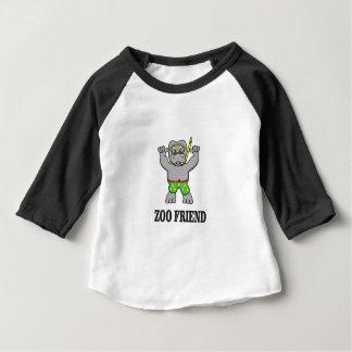hippopotame d'ami de zoo t-shirt pour bébé