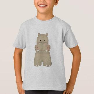 Hippopotame de bande dessinée t-shirt