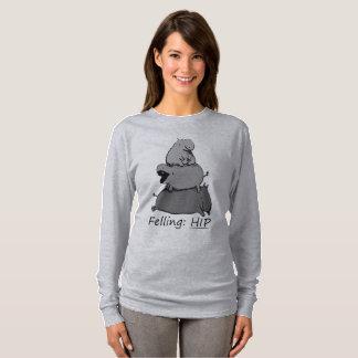Hippopotame de bébé de Preemie d'hippopotame de T-shirt