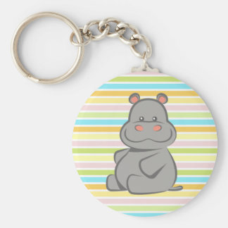 Hippopotame de bébé porte-clefs