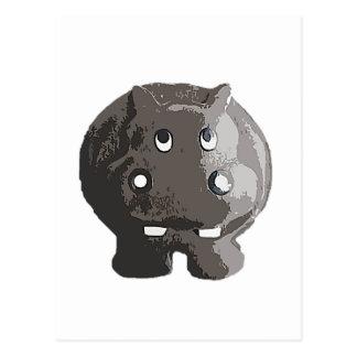 Hippopotame de Harry Carte Postale