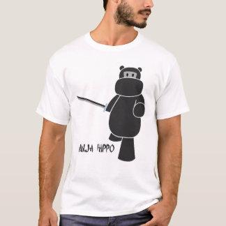 Hippopotame de Ninja - préparez pour la bataille T-shirt