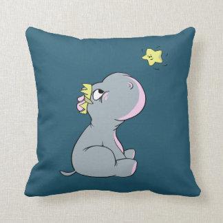 Hippopotame et étoile ! coussin