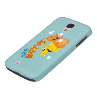 Hippopotame jaune et orange coque galaxy s4