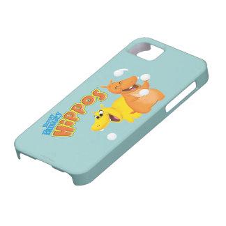 Hippopotame jaune et orange coque iPhone 5 Case-Mate