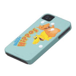 Hippopotame jaune et orange coques iPhone 4