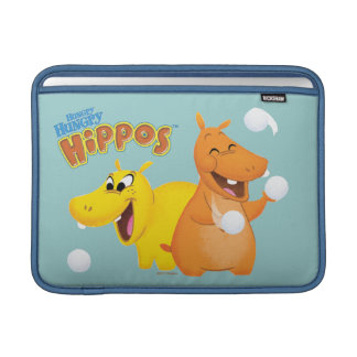 Hippopotame jaune et orange poche pour macbook air
