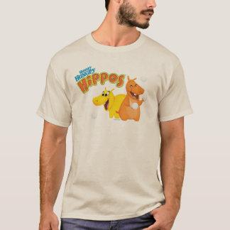 Hippopotame jaune et orange t-shirt