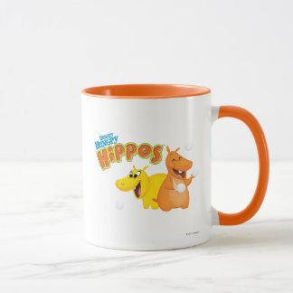 Hippopotame jaune et orange tasse