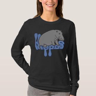 Hippopotame lourd - bleu t-shirt