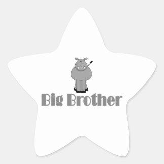 Hippopotame mignon de frère adhésif