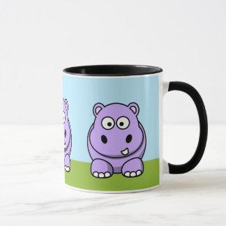 Hippopotame mignon de lavande mugs