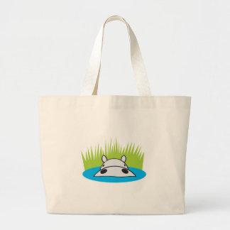 hippopotame se cachant dans l'eau grand sac
