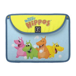 Hippopotames affamés affamés poches pour macbook