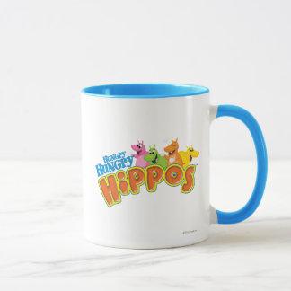 Hippopotames affamés affamés tasses
