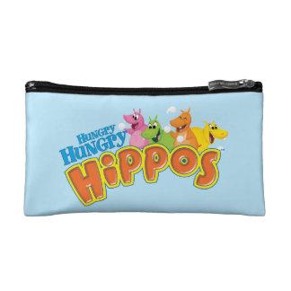 Hippopotames affamés affamés trousses de toilette