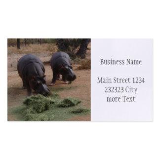 hippopotames carte de visite standard