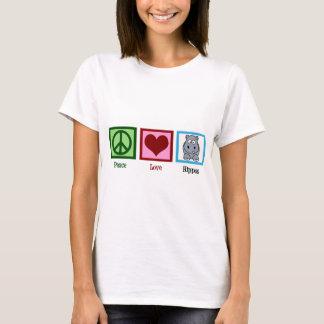 Hippopotames d'amour de paix t-shirt