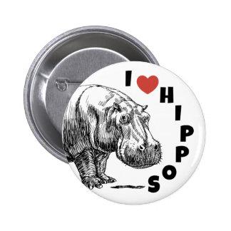 Hippopotames du coeur I - goupille d'amants et de Badge