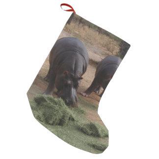hippopotames petite chaussette de noël