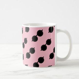 Hipster glass mug