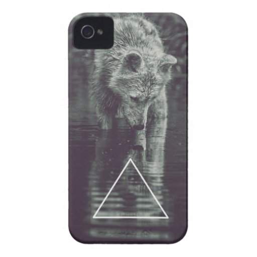 hipster loup coques iPhone 4 Case-Mate