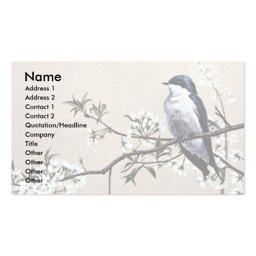 Hirondelle d'arbre cartes de visite personnelles