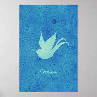 Hirondelle de liberté affiche