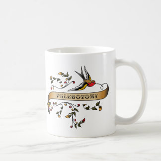 Hirondelle et rouleau avec le Phlebotomy Mug