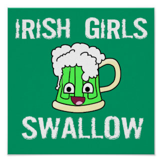 Hirondelle irlandaise de filles poster
