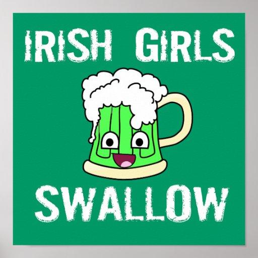 Hirondelle irlandaise de filles affiche