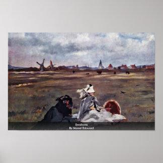 Hirondelles par Manet Edouard Poster