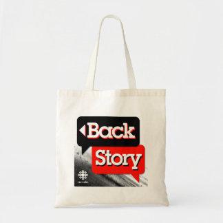 Histoire arrière sacs en toile