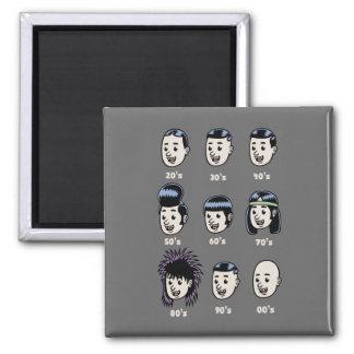 Histoire des cheveux des hommes magnets pour réfrigérateur