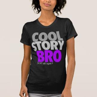 Histoire fraîche Bro pourpre T-shirts