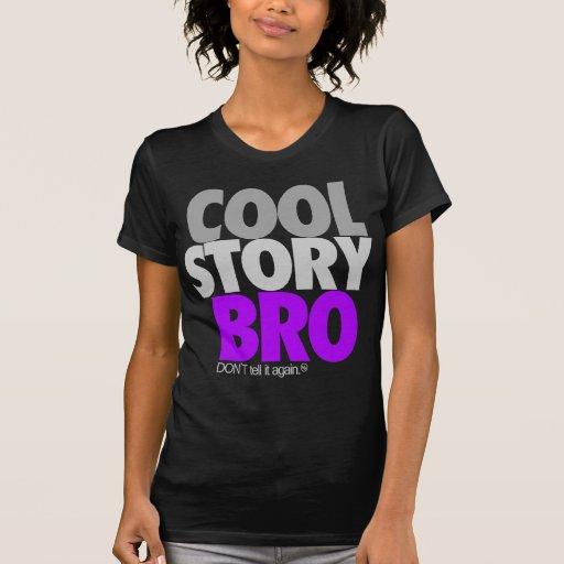 Histoire fraîche Bro (pourpre) T-shirts