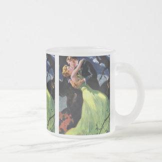 Histoires d'amour vintages, baiser romantique mug en verre givré