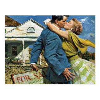 Histoires d'amour vintages, changement d'adresse carte postale