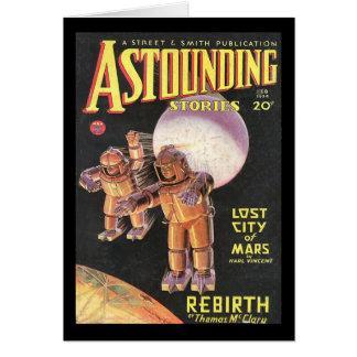 Histoires stupéfiantes comiques vintages 1934 de carte de vœux