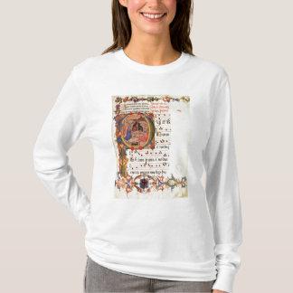 """Historiated parafent """"P"""" dépeignant la nativité T-shirt"""