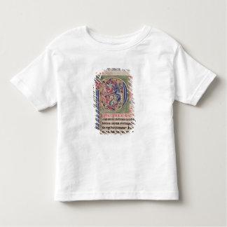 """Historiated parafent """"P"""" dépeignant une chasse à T-shirt Pour Les Tous Petits"""