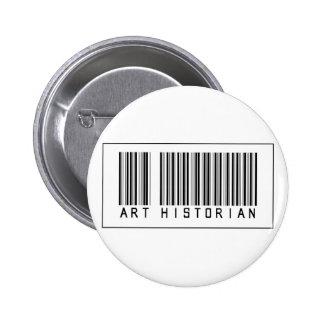 Historien d'art de code barres badge avec épingle