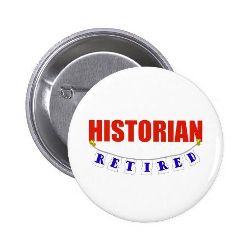 HISTORIEN RETRAITÉ PIN'S AVEC AGRAFE