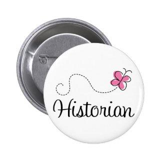 Historien rose mignon de papillon pin's avec agrafe
